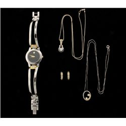LOT: Lady's Earrings, Necklace, Pendant