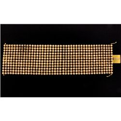 BRACELET: 10KYG bracelet set with 516 round diamonds