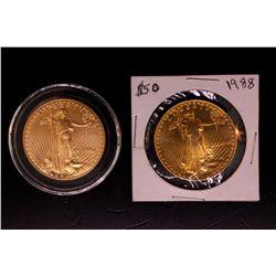 COIN: (2) 1 oz.  Gold Eagle Coins