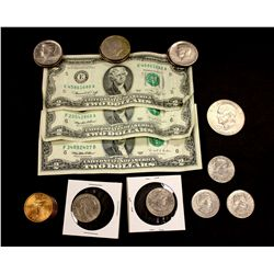 LOT: Misc coins and currency
