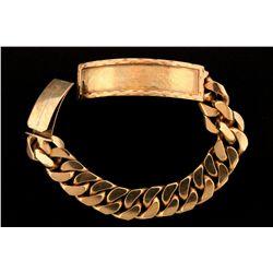 JEWELRY: 10k yellow gold I.D. bracelet