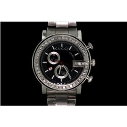 JEWELRY: Gents stainless steel Gucci Chronograph watch
