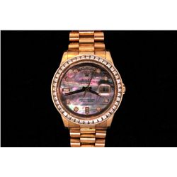 JEWELRY: Gents Rolex President Oyster Perpetual Day Date 18K rose gold watch