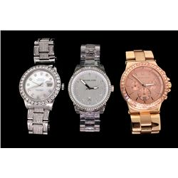 WATCH:  (3) Stainless steel gents watches