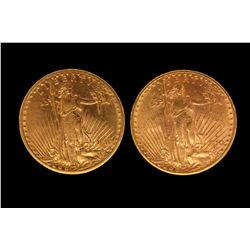 COINS: (2) 1910 US Twenty Dollar Gold Coins