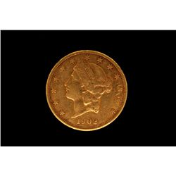 COIN:1902 US Twenty Dollar Gold Coin