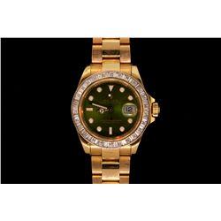 ROLEX: Men's 18ky Rolex O.P. Yacht-Master Date wristwatch