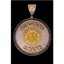 PENDANT: 14KWG 'Sunshine State' pendant by Avianne