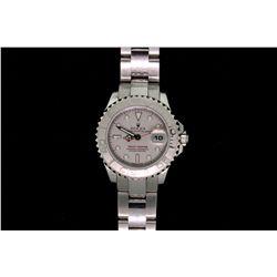ROLEX: Lady's plat Rolex O.P. Yacht-Master wristwatch