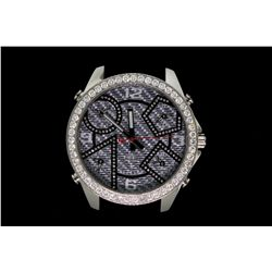 WATCH: Large  Jacob and Co Five Time Zone diamond wristwatch