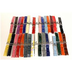 WATCH STRAPS: (32) men's crocodile and alligator leather straps with  Jacob and Co. logo