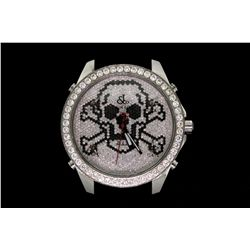 "WATCH: Large  Jacob and Co Five Time Zone ""Skull"" collection wristwatch"