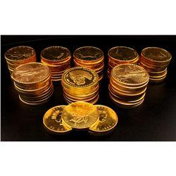 BULLION: (84) Misc fine gold coins