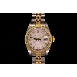 ROLEX: Lady's 18ky Rolex O.P. Datejust wristwatch