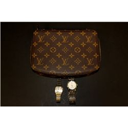 JEWELRY: Lady's Louis Vuitton Monte Carlo Jewelry Box and (2) wristwatches