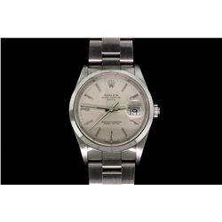 WATCH: Stainless steel gents Rolex Oyster Perpetual Date watch
