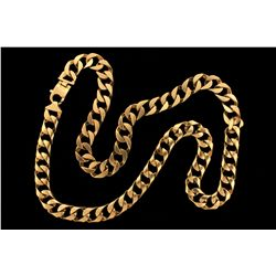 CHAIN: 10KYG contemporary curb link chain necklace