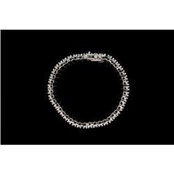 BRACELET: 10KWG bracelet set with 264 round diamonds