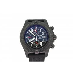 WATCH: Black steel gents Breitling Aeromarine Super Avenger Chronograph Limited edition watch