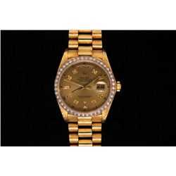 ROLEX: Men's 18ky Rolex O.P. Day Date wristwatch