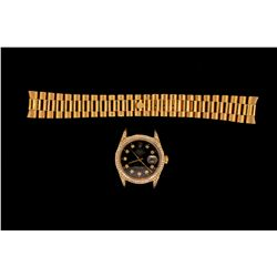 ROLEX: Men's 18ky Rolex O.P. Datejust wristwatch