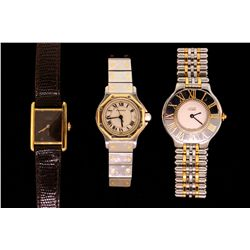 WATCH: Lot lady's Cartier wristwatches