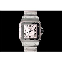 WATCH: Men's  Cartier Santos square wristwatch
