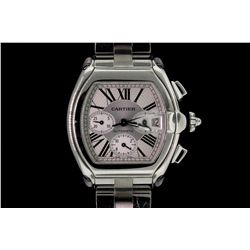 WATCH: Men's st.steel Cartier Roadster chronograph wristwatch
