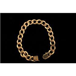 BRACELET: 10KYG 8 3/4 inch curb link bracelet