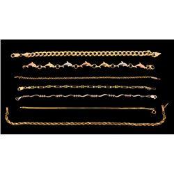 BRACELET: (7)  10K,10KYG and 14KYG bracelets