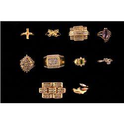 RINGS: (10) 10K,10KYG and 14KYG rings