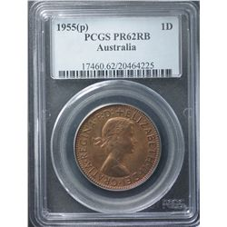 1955 Perth Penny Proof