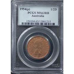 1954 Half Penny