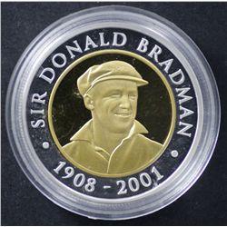 Sir Donald Bradman 3 Coin Set 2001