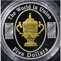 2003 Rugby World Cup $5 Proof