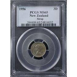New Zealand 1956 Threepence