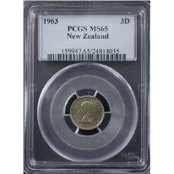 New Zealand 1963 Threepence