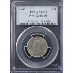 New Zealand 1948 Shilling