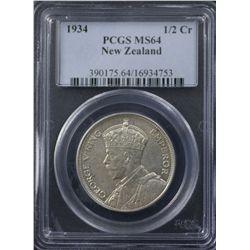 New Zealand 1934 Half Crown