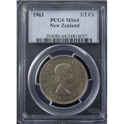 New Zealand 1963 Half Crown