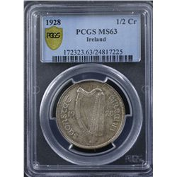 Ireland 1928 Half Crown
