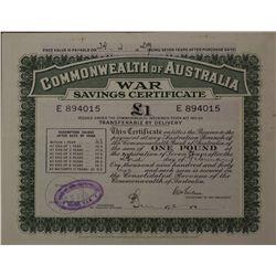 War Savings Certificate