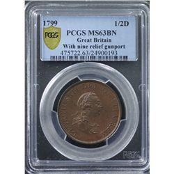 GB 1799 ½ Penny