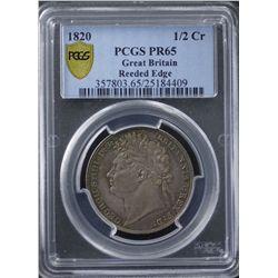 GB 1820 ½ Crown