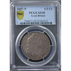 GB 1697 N ½ Crown