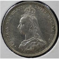 GB 1887 Shilling