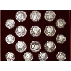 Russia Olympic Silver Coin Collection
