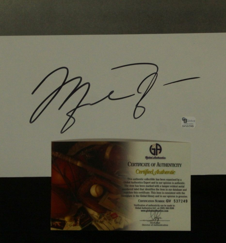 Michael Jordan Signed Nike Wings Poster (GA COA)