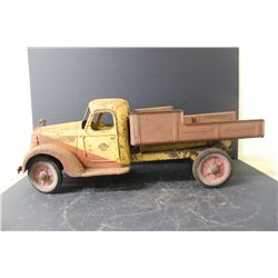 """GREAT EARLY BUDDY L SOLID STEEL - ONLY SURFACE RUST - NEEDS SANDING & PAINTING - 28"""" LONG X 9"""" WIDE"""