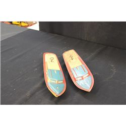"""2 TIN BOATS BY LINDSTROM - 15"""" - ONE MONEY"""